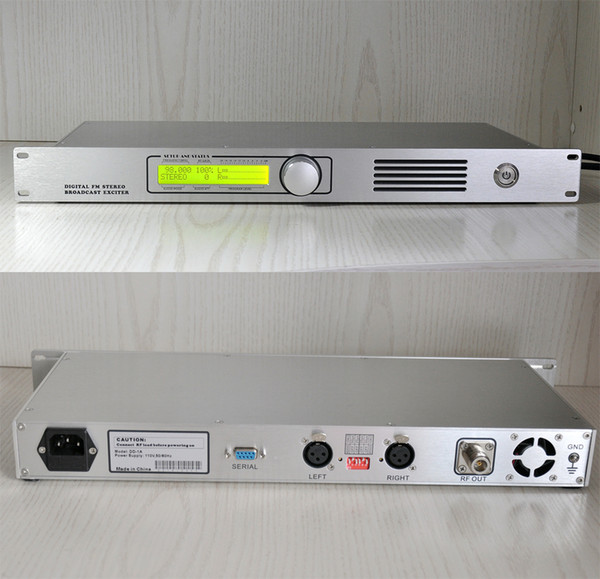 best selling DDone-1 87.5-108MHz Digital FM stereo broadcast exciter DSP & DDS for Business used for production or FM-Airchain