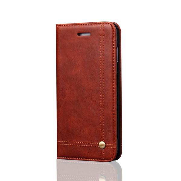 Iphone için iphone için cep telefonu kılıfı cüzdan deri kılıf iphone7 7 artı 6 6 s 6 artı 6 s artı manyetik ile samsung s7 s7edge flip case