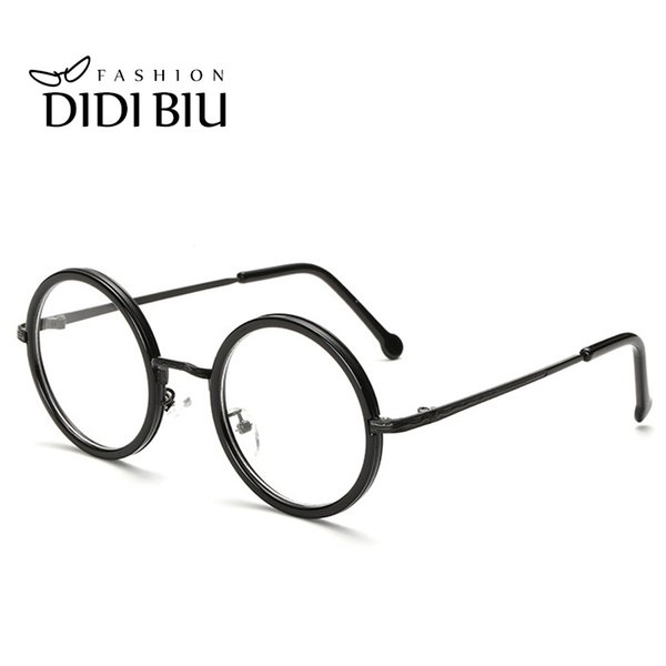 DIDI Small Round Clear Lens Eyeglass Frame Retro Thin Metal Optical Spectacle Glasses Frame Accessory Brand Designer Oculos H166