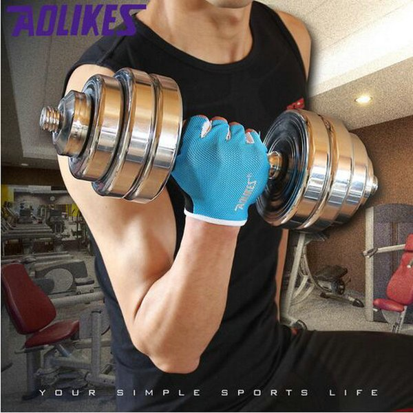 Unisex Gym Half Finger Gloves Body Building Training Sports Breathable Fitness Gloves Exercise Weight Lifting Gloves