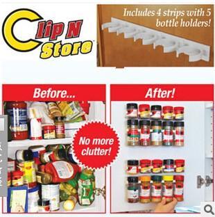 Clip N Store Lagerregal Einfache Flaschenclip Gewürzflaschen Regal Küchenhelfer Kein Durcheinander mehr 4tf R