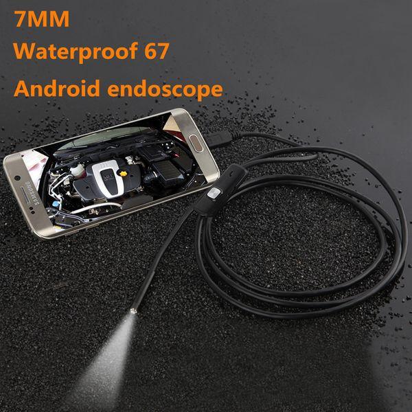 1 M 2 M 3.5 M Endoskop Borescope USB Android Muayene Kamera 6 LED 7mm Lens 720 P Su Geçirmez Araba Endoscopio Tüp mini Kamera