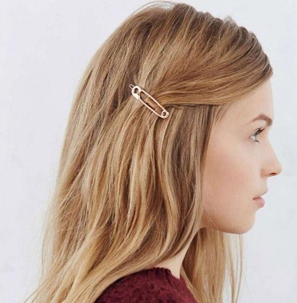 Novelty Clip Hair Clips Silver Gold Tone Headwear Geometric Hair Barrettes Clip Metal Hairpin Hair Accessories