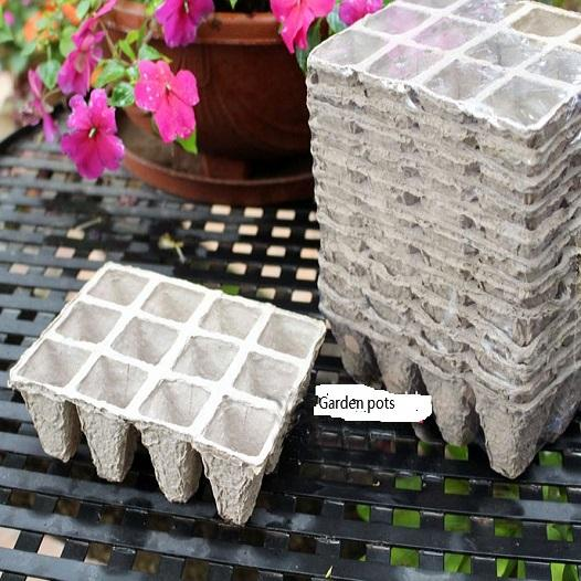 5pcs Seed Starting Pots Seed Starter Pots Trays Biodegradable Peat 5 pack -Peat Pots Seed Starter Tray 60 Cells
