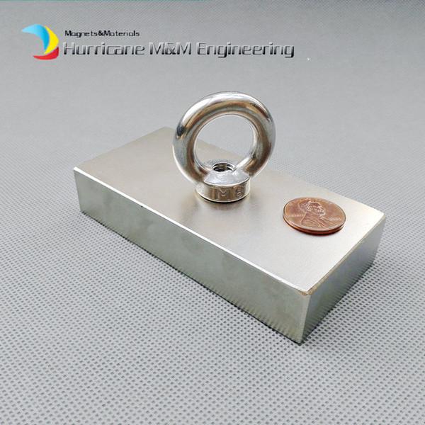 1pc NdFeB Fix Magnet 100x50x20mm con circa 4 '' Vite svasata Foro Block N42 Neodimio Magnete permanente per terre rare