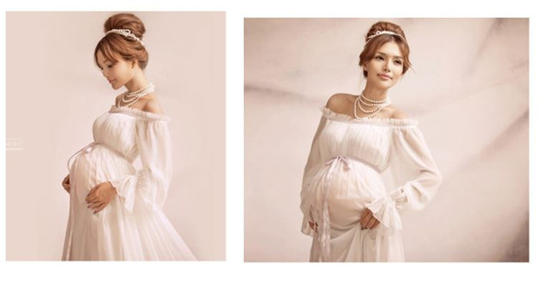 best selling Maternity Dress Photography Props Pregnant Women Long Dress Photo Shoot Dresses Pregnant Women Photo Dress