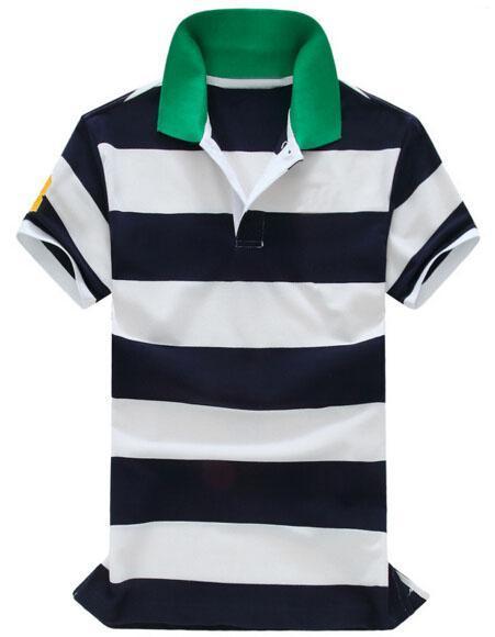Top Express 2017 fashion Striped POLO Shirt Men Cotton lapel camisa Summer Casual embroidery Polos Shirts big horse Green