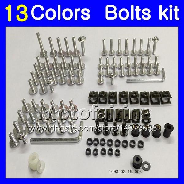 Kit completo de tornillos de carenado Para HONDA CBR400RR NC29 CBR400 RR CBR 400 RR 95 96 97 98 1995 1996 1998 Tuercas de cuerpo tornillos tuercas kit de tornillos 13Colores