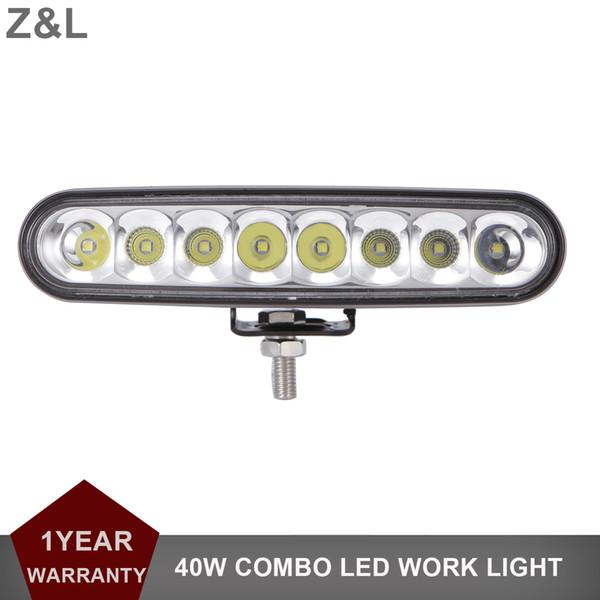 24W CREE LED Work Light Bar SUV Auto Camion rimorchio DRL Pickup 4x4 Moto 4WD Combo 12V 24V Fendinebbia Faro di guida