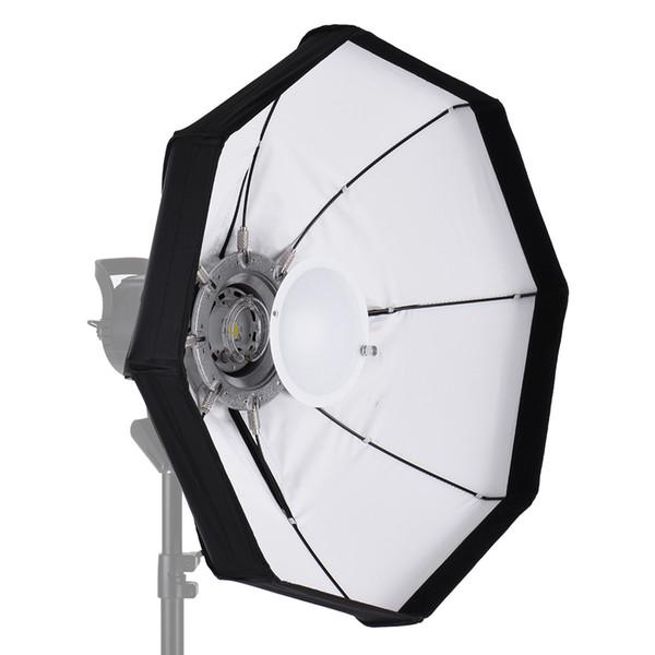 8-Pole 60cm White Foldable Beauty Dish Softbox with Bowens Mount for Studio Strobe Flash Light
