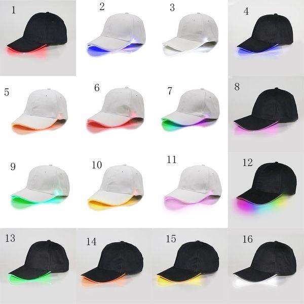 Moda bambini grandi berretti da baseball con cappuccio a LED in cotone per donna, cappello da baseball a forma di berretto da baseball