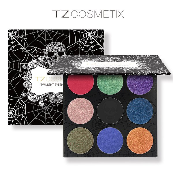 New TZ Cosmetix Twilight 9 Colors Eyeshadow Palette Matte Shimmer Diamond Foiled Colors Brand eye shades DHL Free Shipping