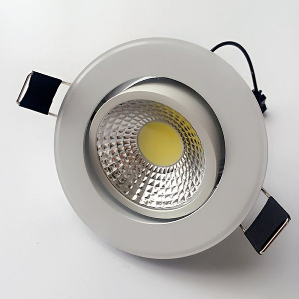 white shell led downlight dimmable cob recessed ceiling lights 9w 800lm AC90-260v Warm/Cool White +Drivers 120angle