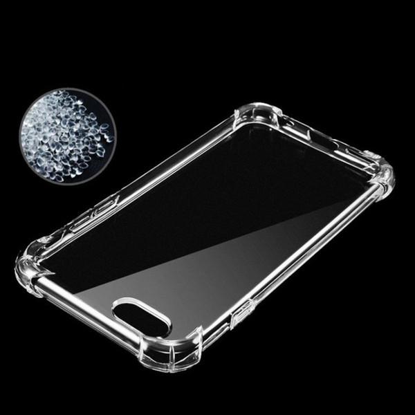 Per iphone X 8 Flexibilty Silicone trasparente TPU trasparente Caso anti-shock Copertura in gomma Gel Shell per iphone 7 per Samsung S8 plus Nota 8
