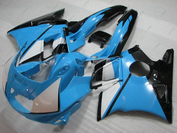 Carrocería CBR600 F2 1991 Kits de carrocería para Honda Cbr600 1993 Azul Negro Kits de carenado CBR 600 F2 91 92 1991 - 1994