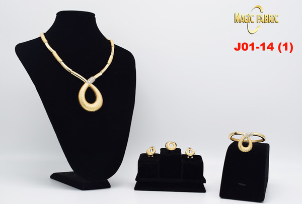 2017 Nigerian Wedding African Beads Jewelry Sets Dubai Gold Plated