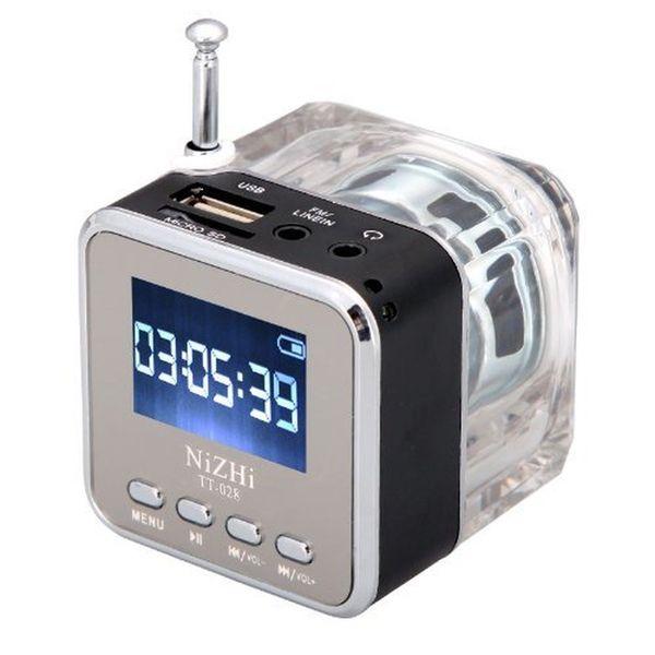 NiZHi TT-028 MP3 Mini lettore musicale digitale portatile Micro SD USB FM Radio nel pacchetto al dettaglio DHL Freeshipping