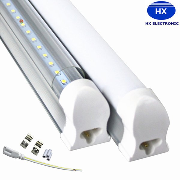 dimmable 4 ft led light Bulbs integrated T8 led tubes Frosted Clear Cover 6000K 3000K 4000K for garage warehouse workshop