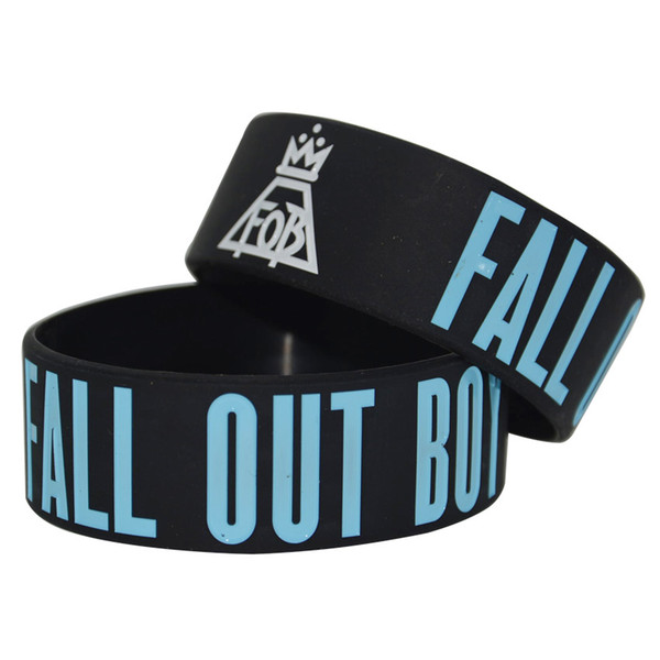 50PCS/Lot Fall Out Boy Rock Style Band Silicon Bracelet, Show Your Support For Them By Wearing This Wristband