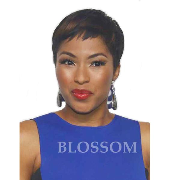 Brasilianische Lace Front Perücken Reine Menschenhaarspitzeperücken für Schwarze Frauen Keine Spitzeperücken Kurze Haarwebart