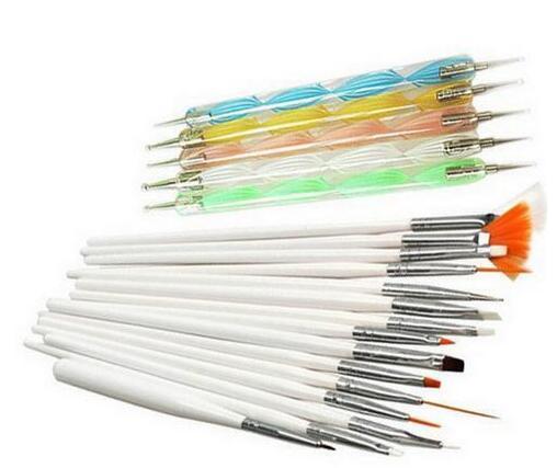 Nail Art Painting Tool 20pcs set stylo polonais pinceau set kit pinceaux à ongles professionnel style