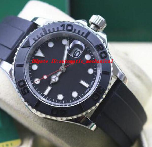 Relógio de Pulso de luxo 2017 Nova Marca Na Caixa de 40mm Preto Disque 18kt Ouro Branco 116655 Homens Mecânicos Automáticos Relógios de Alta Qualidade