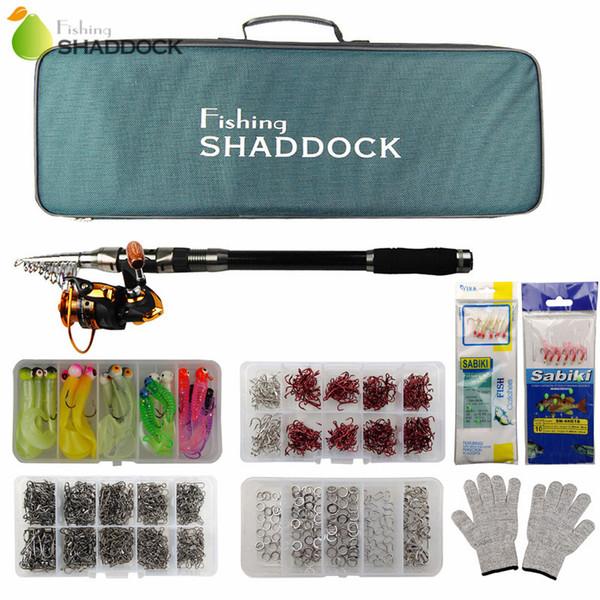 best selling Carbon Fiber Telescope Baitcasting Fishing Rod Casting Spinning Fishing Rod Reel Bag Set Fishing Tackle Combo