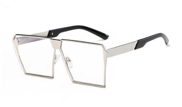 5pcs nuovi occhiali da sole donna uomo oversize quadrati occhiali da vista UV400 occhiali da vista montature da vista vetro senza montatura 77