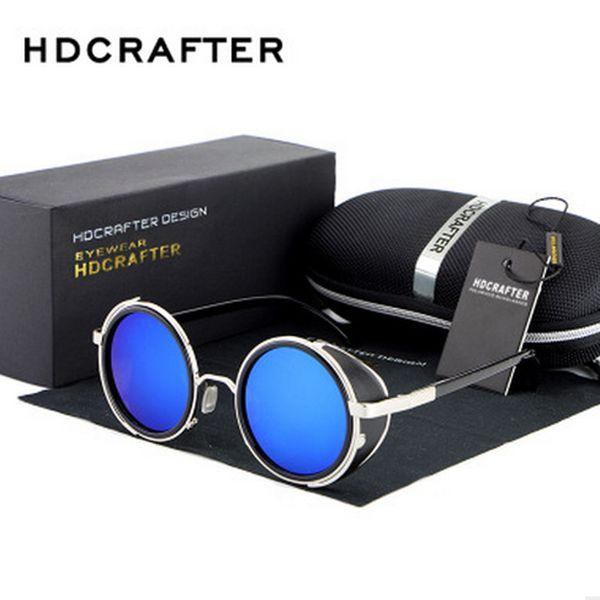 sunglasses for women men korea oval face oval face men women case side shields test police china colour glass wholesale Round The punk 2017