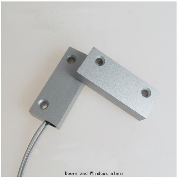 Envío libre Sensor de puerta Cable cableado Ventana Puerta Contacto Interruptor magnético Alarma 1 pai puerta hinger