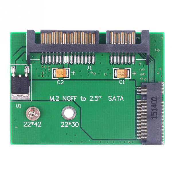 NGFF M.2 to SATA 22Pin 2.5inch HDD Converter Adapter Small Board for Half Size NGFF SSD