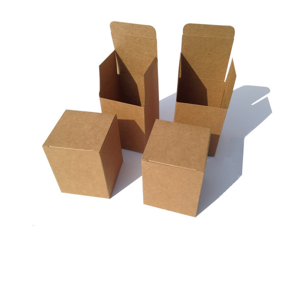 2018 Limited Tubetes 50pcs/lot 10x10x5cm Kraft Paper Box Diy Lipstick Perfume Essential Can Packaging Boxes Valve Tube Package Square Size