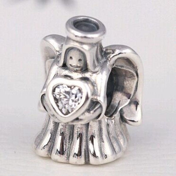 2016 Winter Loose Bead 925 Sterling Silver Angel of Love Charm Fits European Pandora Jewelry Bracelet Necklace & Pendant Christmas Gifts