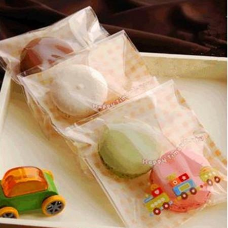 Small car self adhesive small plastic cookie candy bags gift food packaging for wedding and festival party supplies