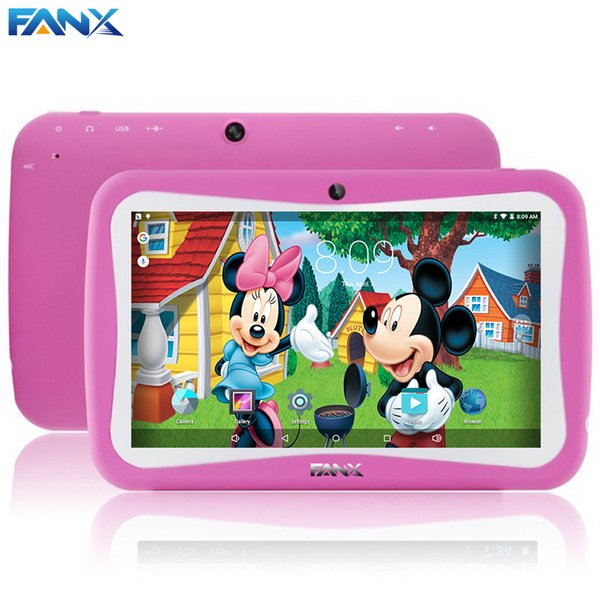 Wholesale- Free Shipping Popular Kids Gift TAB 7 inch Children Kids Games Tablet PC RK3126 Quad Core PAD Android 5.1 MID Kids Birthday Gift