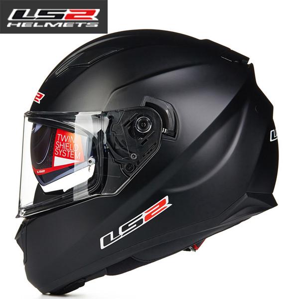 LS2 ff328 Full Face motocicleta casco hombre mujer Racing moto cascos con doble lente DOT moto aprobada casco LS2 Capacete