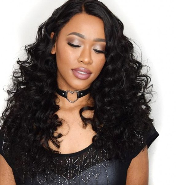 130% Density Loose Wave Lace Front Human Hair Wigs Peruvian Pre Plucked Bleacehd Knots Lace Wigs For Black Women FDSHINE