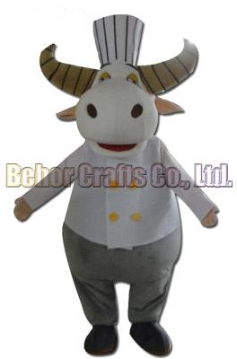 Chef cow mascot costume EMS free shipping, cheap high quality carnival party Fancy plush walking cow mascot adult size.