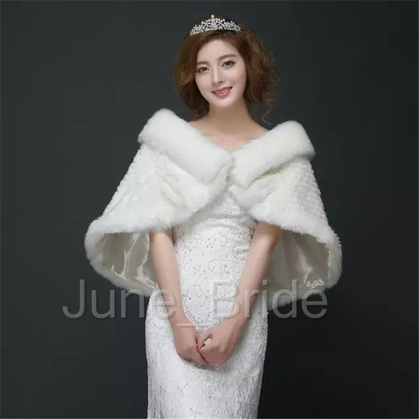 Winter Wedding Wrap New Style Faux Fur Bridal Wrap Dress Jacket Shawl Marriage Shrug Coat Party Boleros High Quality Free Shipping In Stock