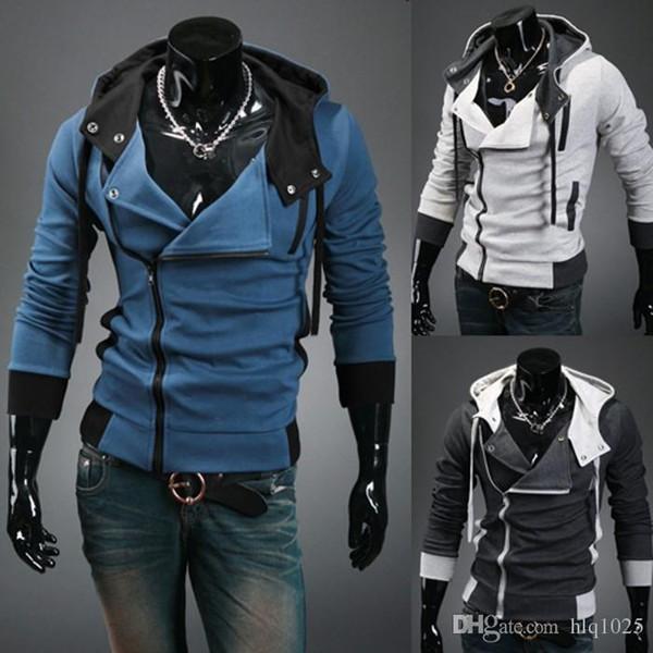 Fashion Casual Slim Cardigan Assassins Creed Hoodies Men Sweatshirt Outerwear Jackets Plus Size Hoodie free shipping