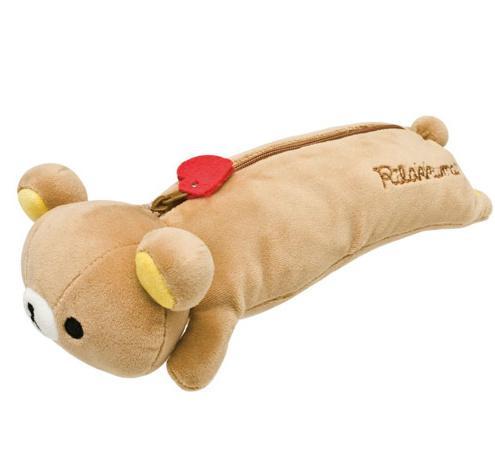 All'ingrosso- SVEGLIA NESSUN corpo in stoffa SAN-X Rilakkuma orso 23cm in peluche in cotone portamatite con astuccio portamatite; Borsa a mano con portamonete