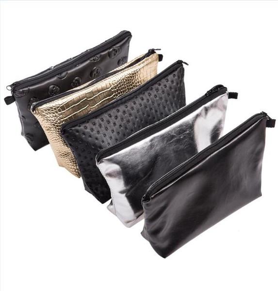 20pc PU Makeup Bags casos lápis bolsa Womens Bolsas Casual Malas de Viagem armazenamento organizador da caixa da escova de higiene embreagem por goodfaithgirl
