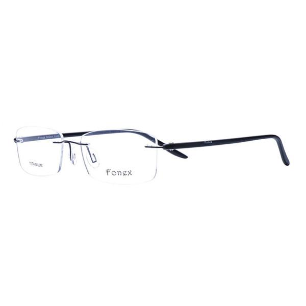 Wholesale- Chashma Brand Alloy Frame TR 90 Temple Frames Ultra Light Eyewear Rimless Spectacles Trending Glasses Frame