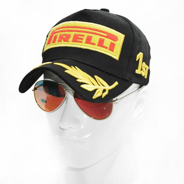 Erkekler Araba Motosiklet Yarışı MOTO GP Casquette Doğa Sporları Güneş Hat için 2019 Snapback Yarış Cap Beyzbol şapkası Siyah F1 Stil Şapka