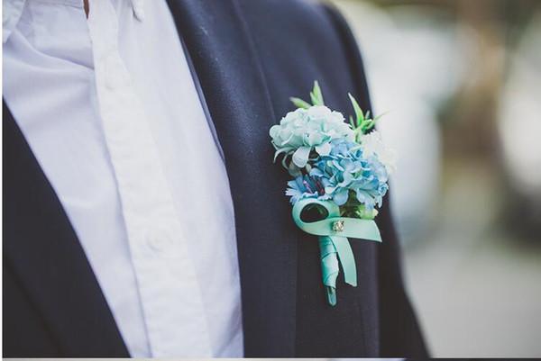 blue corsages
