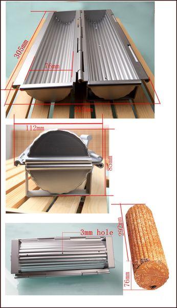 Toptan-1 ADET alüminyum ekmek kalıp ekmek tava ekmek tava silindir şekilli tost kutusu