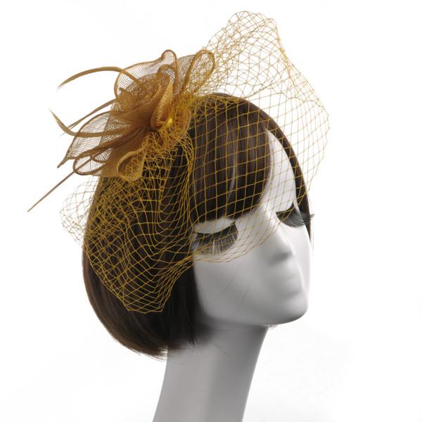 12 colors simple and Vintage Fascinators Bridal Hats Flower Church Hat 2017 Cheap Handmade Custom Women Headpiece Hair Accessory For Wedding