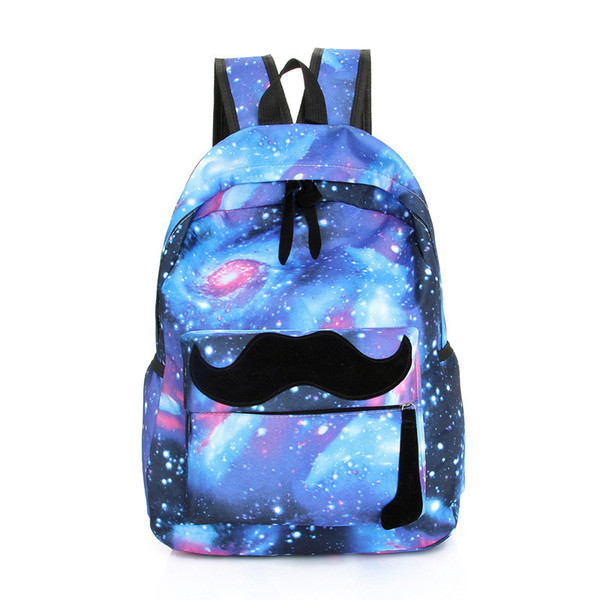 Wholesale- 100% brand new and high quality Galaxy Pattern Unisex famous Travel Backpack fashion Canvas Leisure Bags School Bag