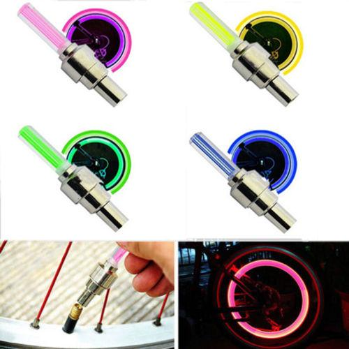 best selling LED Flash Tyre Bike Wheel Valve Cap Light Car Bike Bicycle Motorbicycle Wheel Tire Lights LED Car Light Blue Green Red Yellow Light Colorful