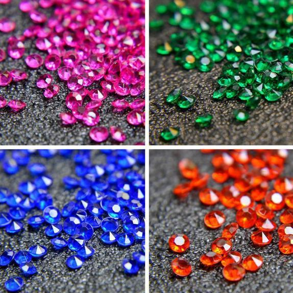 1000Pcs 4.5mm Acrylic Crystal Diamond Confetti diamonds wholesale Wedding Decoration Event Party Supplies High Quality